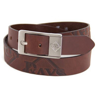 Tampa Bay Rays MLB Brandish Leather Belt Size 40
