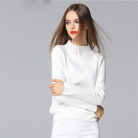 Knitting Sweater Women New Fashion Pullovers Turtleneck Knitwear Knitted Sweater Spring and Autumn Loose Jumper Ladies