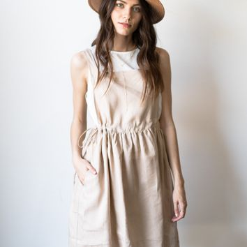 Overall Paperbag Dress
