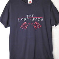 "Rare Original 1980's The Lost Boys Official Movie ""Bat Wings"" T-Shirt"