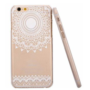 VONE2B5 Hot Sale Fashion Beauty Henna mandala flower Painted pattern Floral Paisley Phone Cases Cover Case for Apple iphone 5 5S 6 i6