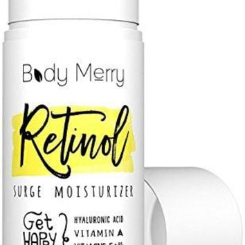 Retinol Surge Moisturizer - All in one anti aging / wrinkle & acne face cream w natural Hyaluronic Acid + Vitamins for day and night use - Perfect for men & women for deep hydration & care