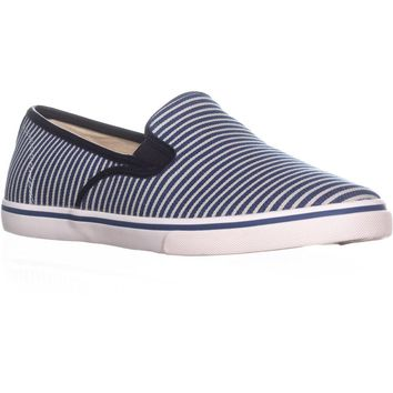Lauren Ralph Lauren Janis Slip On Fashion Sneakers, Blue Railroad, 5 US / 36 EU