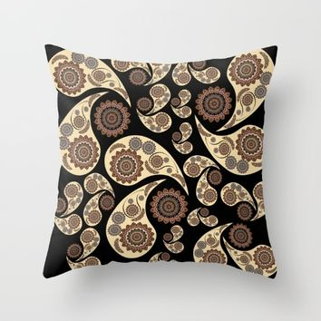 Paisley Pattern Throw Pillow by VanessaGF