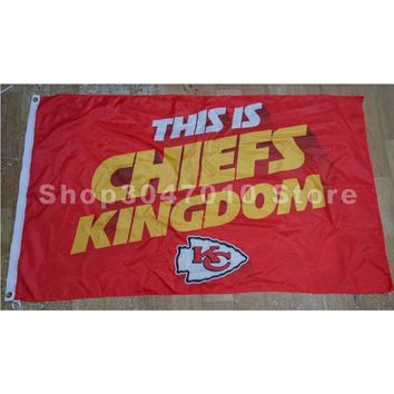 Kansas City Chiefs with Chiefs Kingdom Flag 3x5FT