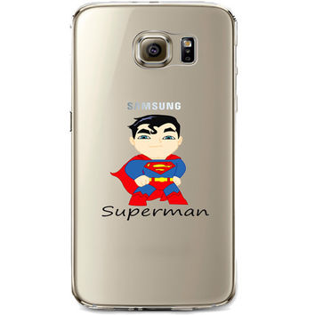 Superman Jelly Clear Case for Samsung Galaxy S7 Edge