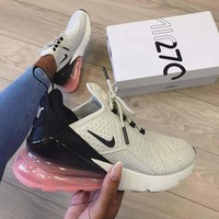 Nike  AIR MAX 270 FLYKNIT Air cushion fashion casual sports shoes