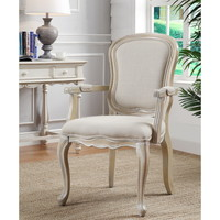 Ivory Finish Accent Chair | Overstock.com Shopping - The Best Deals on Living Room Chairs