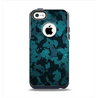 The Teal Vector Camo Apple iPhone 5c Otterbox Commuter Case Skin Set