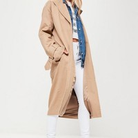 Missguided - Beige D Ring Trench Coat