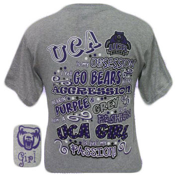 UCA University of Central Arkansas Bears Obcession Girlie Bright T Shirt