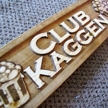 Personalized Bar Pub Beer CARVED Custom Wood Sign Plaque