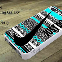 Nike Just Do It Aztec Mint for iphone case, Samsung Galaxy Case, iPod Case, HTC Case, Blackberry Case, Sony Case
