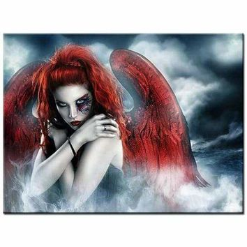 5D Diamond Painting Red Wing Angel Kit