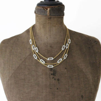 Vintage Napier Necklace -  Gold and Silver Chain Necklace