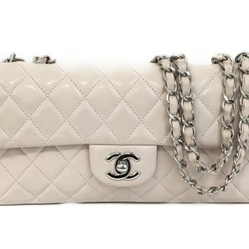 Auth CHANEL Chain Shoulder Bag Quilted Lambskin Leather Pink Used Vintage Women