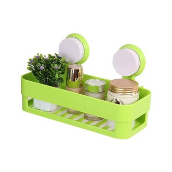 MyLifeUNIT Bathroom Waterproof Suction Cup Shower Caddy Shower Shelf (Green)