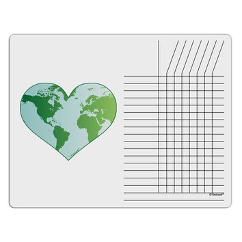 World Globe Heart Chore List Grid Dry Erase Board