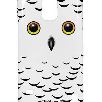 Snowy Owl Cute Animal Face Samsung Galaxy S5 Plastic Case All Over Print by TooLoud