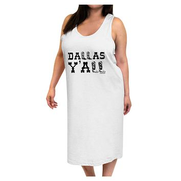 Dallas Y'all - Boots - Texas Pride Adult Tank Top Dress Night Shirt
