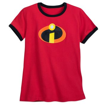 Licensed cool Disney Store The Incredibles 2 Movie Logo Ringer T-Shirt for Women Tee XS-XXL