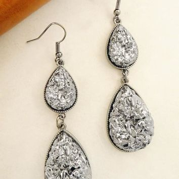 """Metallic Druzy Stones Earrings"""