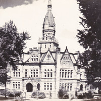 Vintage RPPC Photo Court House Pittsfield IL