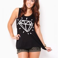 Diamond Muscle Tank - JUST ARRIVED