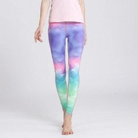 Pastel Painting High Waist Yoga Leggings