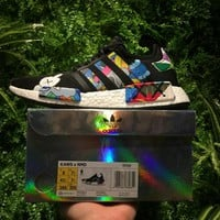 Best Online Sale Kaws x Adidas Consortium NMD R1 Bustling City S31526 Boost Sport Running Shoes Classic Casual Shoes Sneakers