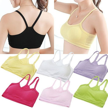Hot Sale Women's Casual Half Length Tank Top Sport Vest Modal Yoga Bra Y-Shape Strap Top = 1932609924