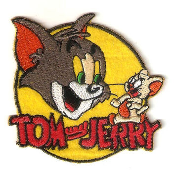 Tom and Jerry iron on patch E079 by happysupply on Etsy