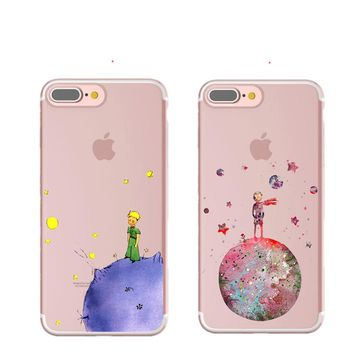 Cartoon The Little Prince The earth space Soft TPU Cover Case for iPhone 7 7 Plus 6 6S Plus 5 5S SE For Samsung For Huawei 2017