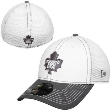 Toronto Maple Leafs New Era Two-Tone Neo 39THIRTY Flex Hat – White/Gray