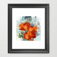 Poppies Framed Art Print by Andreas Wemmje