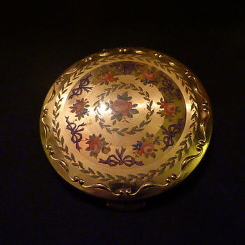 Stunning vintage Kigu compact powder compact compact mirror pocket mirror.