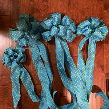 Baby Shower Decoration, Baby Boy Decoration, Welcoming Bow, Set of 4
