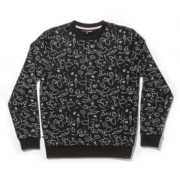 Quiet Life: Lilac Crewneck - Black