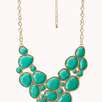 Luxe Faux Stone Bib Necklace