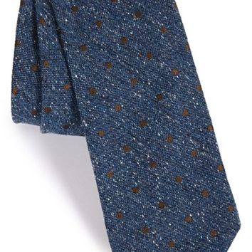 Men's Todd Snyder White Label Dot Silk Blend Tie, Size Regular