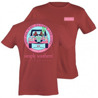 """Simply Southern """"Not All Who Wander Are Lost"""" Tee - Brick"""