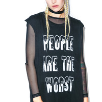 Lip Service The Worst Cut Off Tee Black