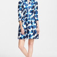 Women's Oscar de la Renta Tulip Print Mikado Cocktail Dress,