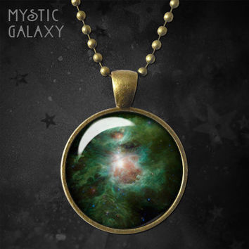 Orion Nebula Necklace, Pendant, Orion Nebula Charm with Chain