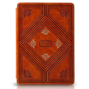 Mosiso New Luxury PU Leather 9.7 inch Smart Case Cover for iPad Air 2 only with Multi-angle Stand Vintage Flip Book Case