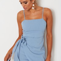 Any Takers Dress Sky Blue