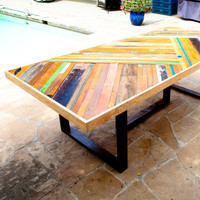 Custom Chevron Table