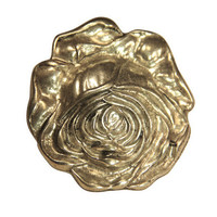 Avignon Rose Belt Buckle - Antique Silver