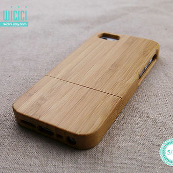 Natural iPhone 5 case - Wood iPhone 5S case - Bamboo iPhone 5 case - Wooden iPhone case - Wooden iPhone cover - Eco friendly - Bamboo -12003
