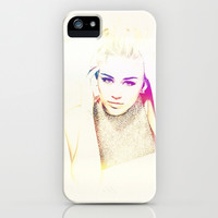 Miley Cyrus - for Iphone iPhone & iPod Case by Simone Morana Cyla